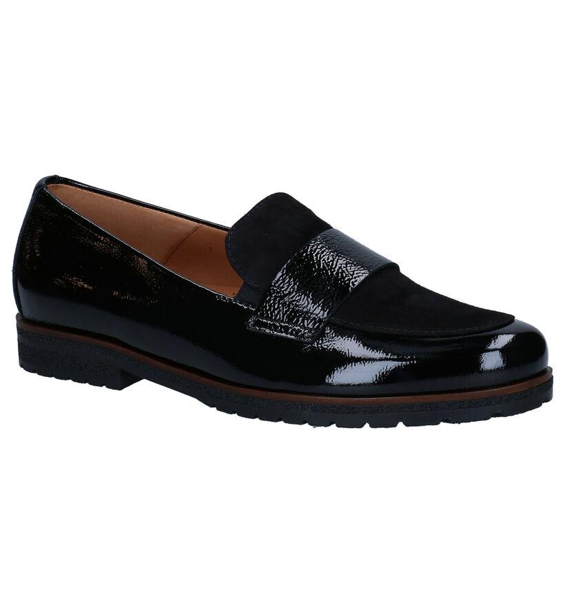 Gabor Easy Walking Zwarte Loafers in lakleer (282274)