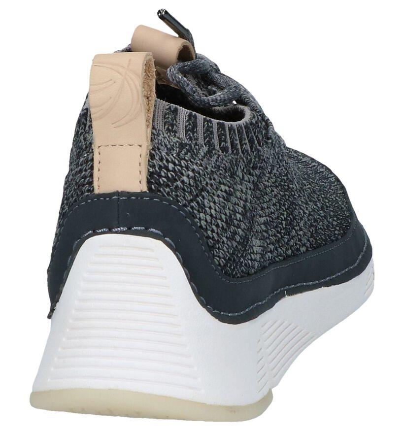 Grijze Slip-on Sneakers Clarks Tri Native in stof (241660)