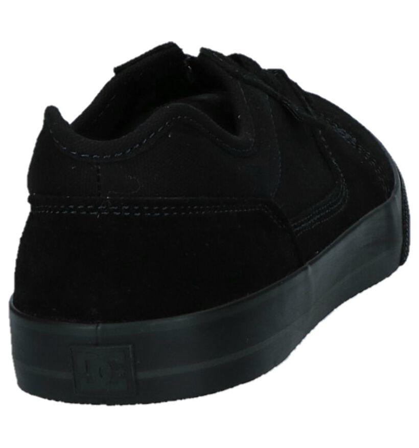 DC Shoes Tonik Zwarte Skatesneakers in daim (263840)