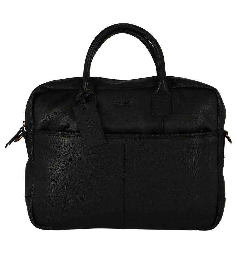 Zwarte Laptoptas Via Borgo Ranger by Torfs in leer (235336)