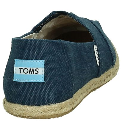 Donkerblauwe Espadrille Toms Alpargata in stof (242043)