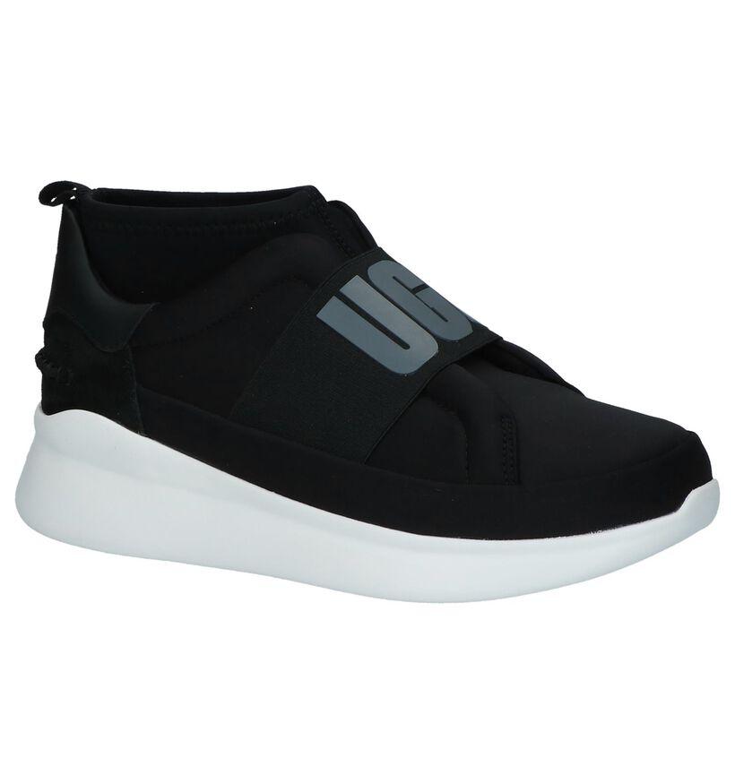 UGG Neutra Zwarte Slip-on Sneakers in stof (223600)