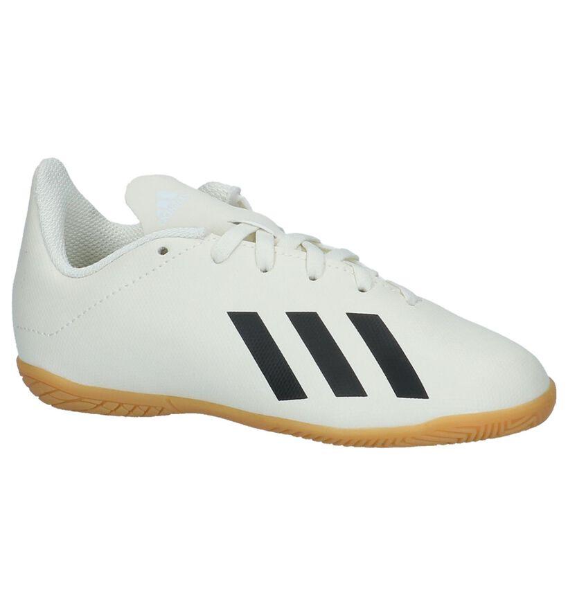 adidas X Tango Ecru Zaalvoetbalschoenen in kunstleer (230821)