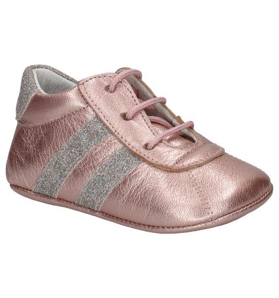 Beberlis Metallic Roze Babyschoentjes