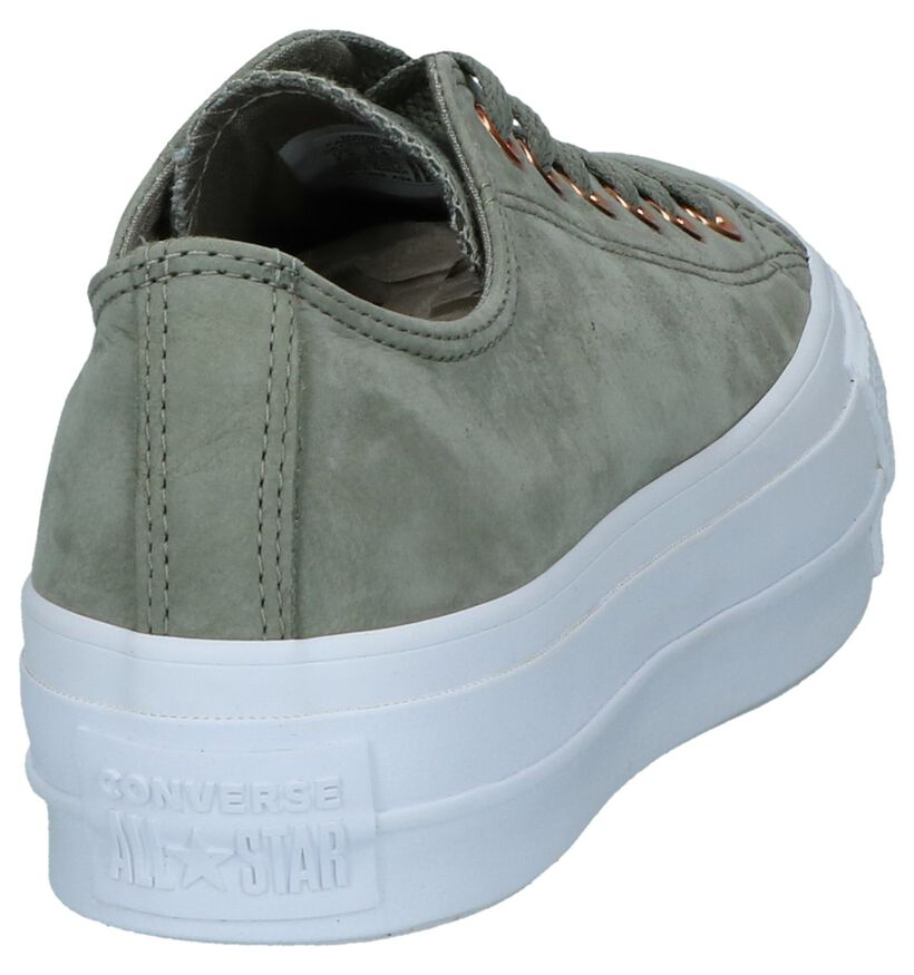 Converse All Star Lift Clean Groene Sneakers in nubuck (235601)