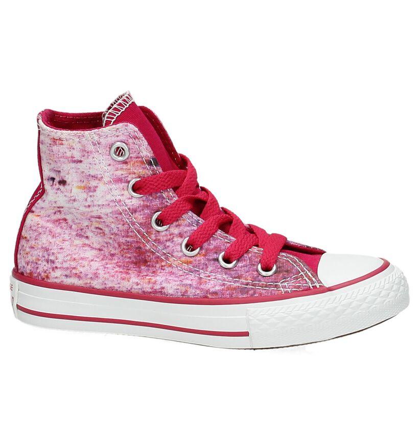 Converse CT All Star Hi Roze Sneaker in stof (155596)