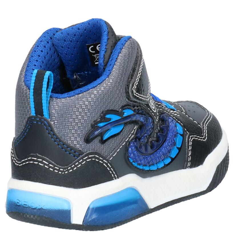 Geox Zwarte Sneakers in kunstleer (254512)