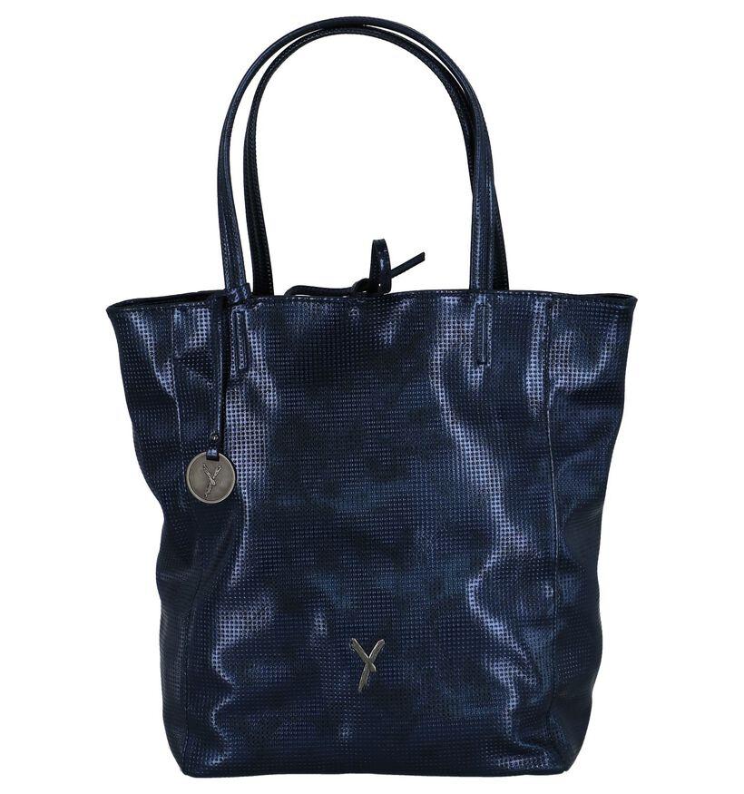 Donkerblauwe Metallic Shopper Tas Suri Frey Missy in kunstleer (227615)