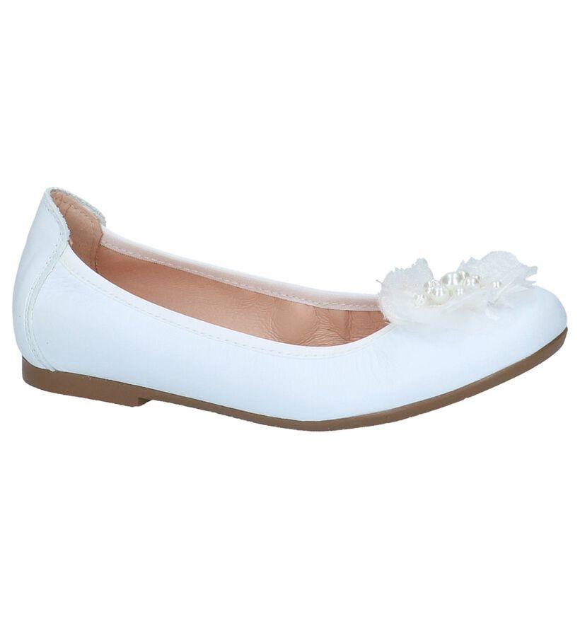 Witte Klassieke Ballerina's Acebos in leer (214941)