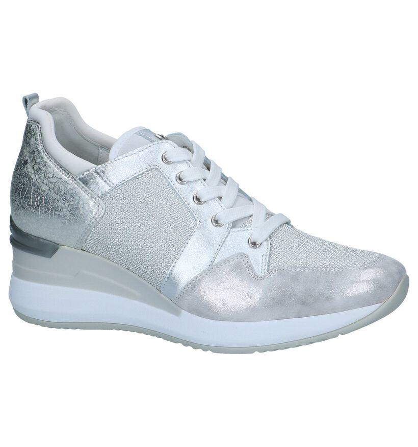 Zilveren Schoenen met Sleehak NeroGiardini in leer (244337)