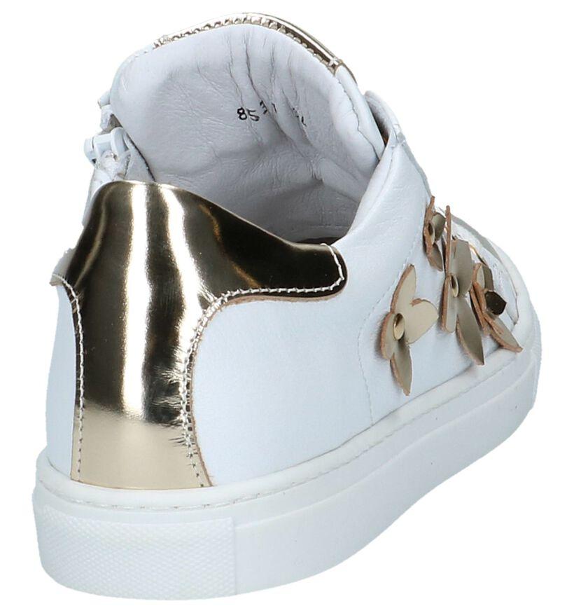 Witte Sneakers Hampton Bays by Torfs met Laké Bloemen in lakleer (213233)