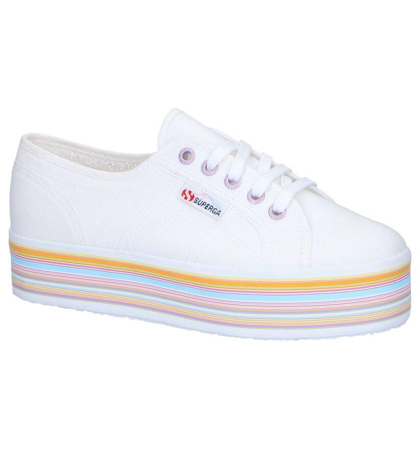Witte Lage Sneakers Superga in stof (243129)