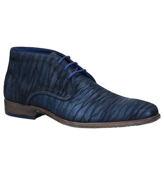 Braend Blauwe Hoge Schoenen