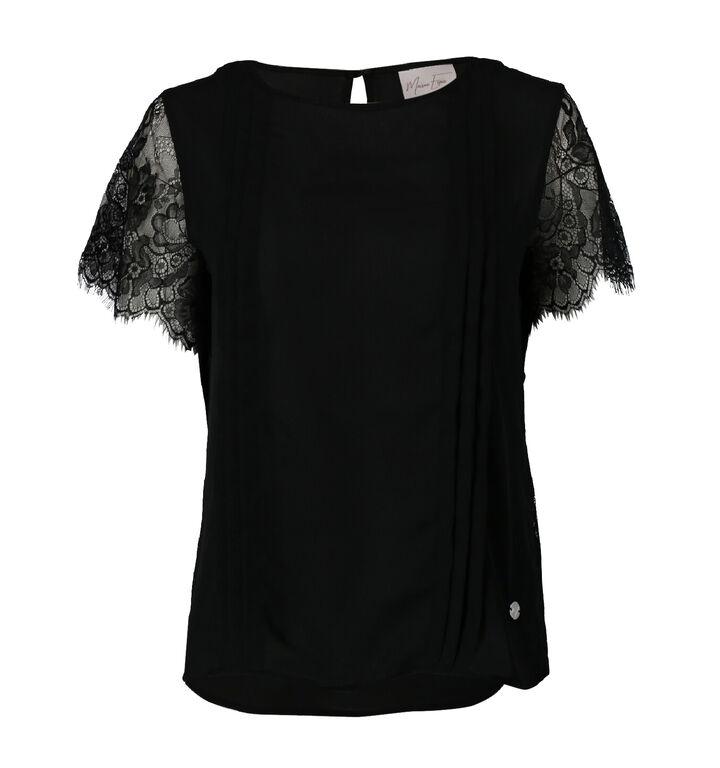 Maison Espin Zwart T-shirt