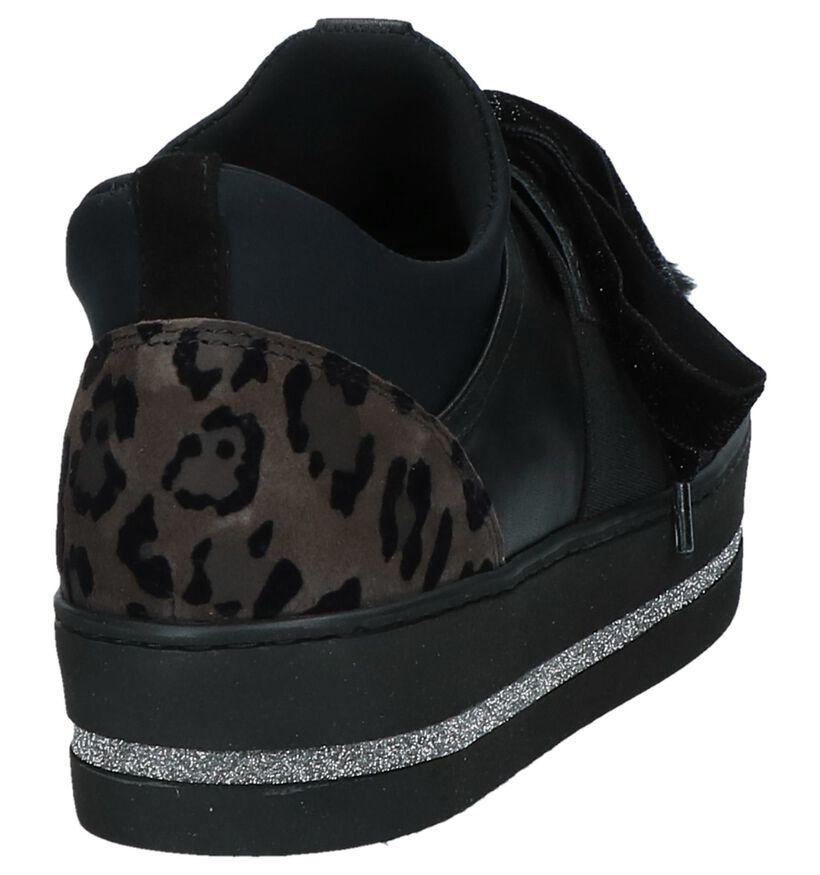 Maripé Zwarte Lage Sneakers in leer (230566)