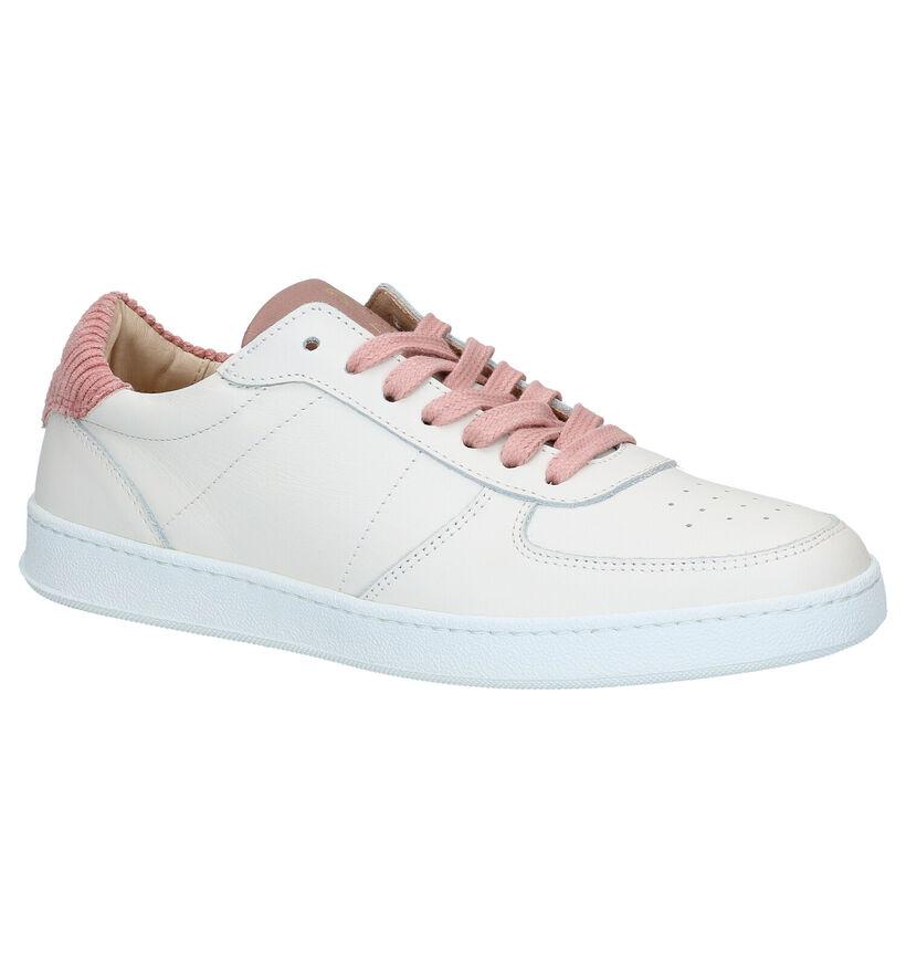 March23 Jade Witte Sneakers in leer (283268)