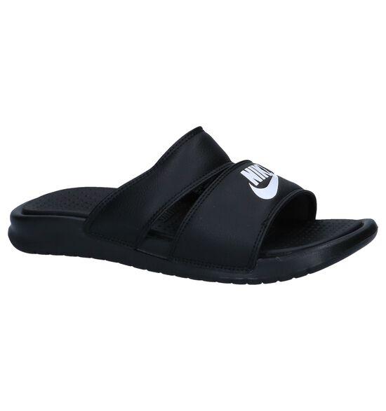 Zwarte Slippers Nike Benassi Duo