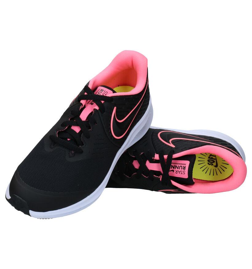 Nike Star Runner Zwarte Sneakers in stof (283833)