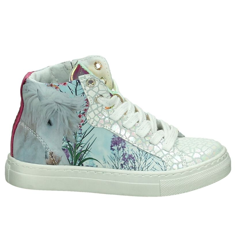 Hoge Sneakers Wild Multicolor met Glitter in leer (190723)