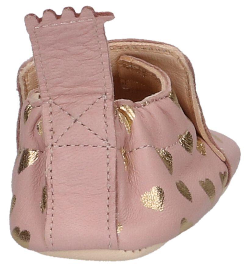 Roze Babypantoffeltjes Easy Peasy Blumoo Lovely in leer (251336)