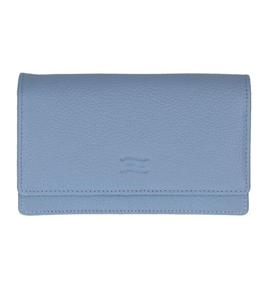 Crinkles Blauwe Overslagportemonnee