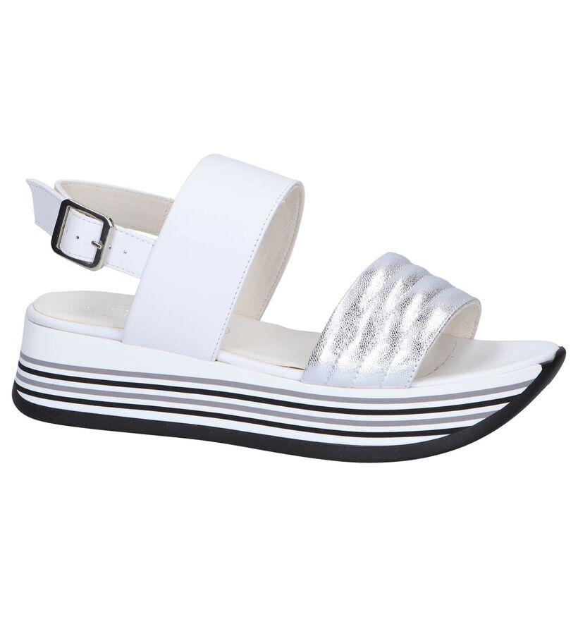Witte Sandalen Tine's in leer (251747)