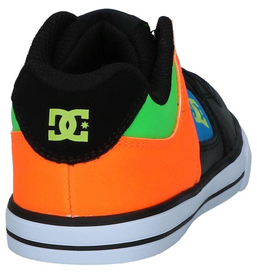 DC Shoes Pure Elastic Zwarte Lage Skateschoenen in kunstleer (235130)