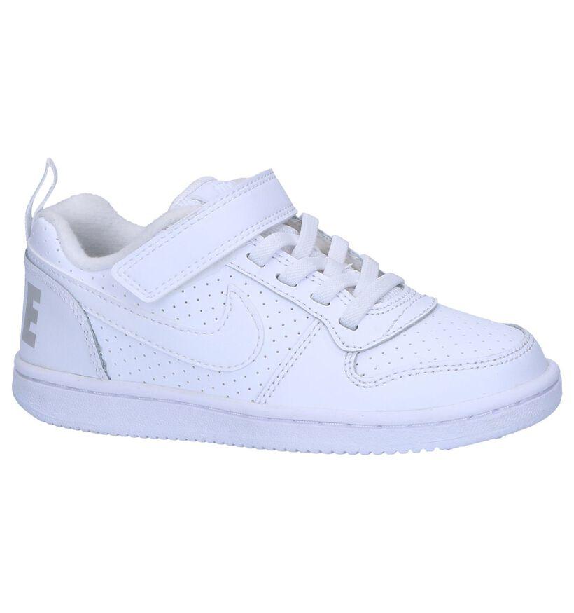 Nike Court Borough Low Witte Sneakers in kunstleer (261643)