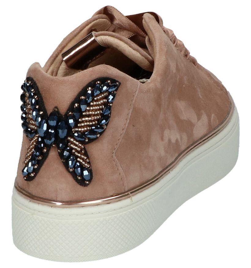 Roze Sneakers met Vlinder Hampton Bays by Torfs in daim (218907)