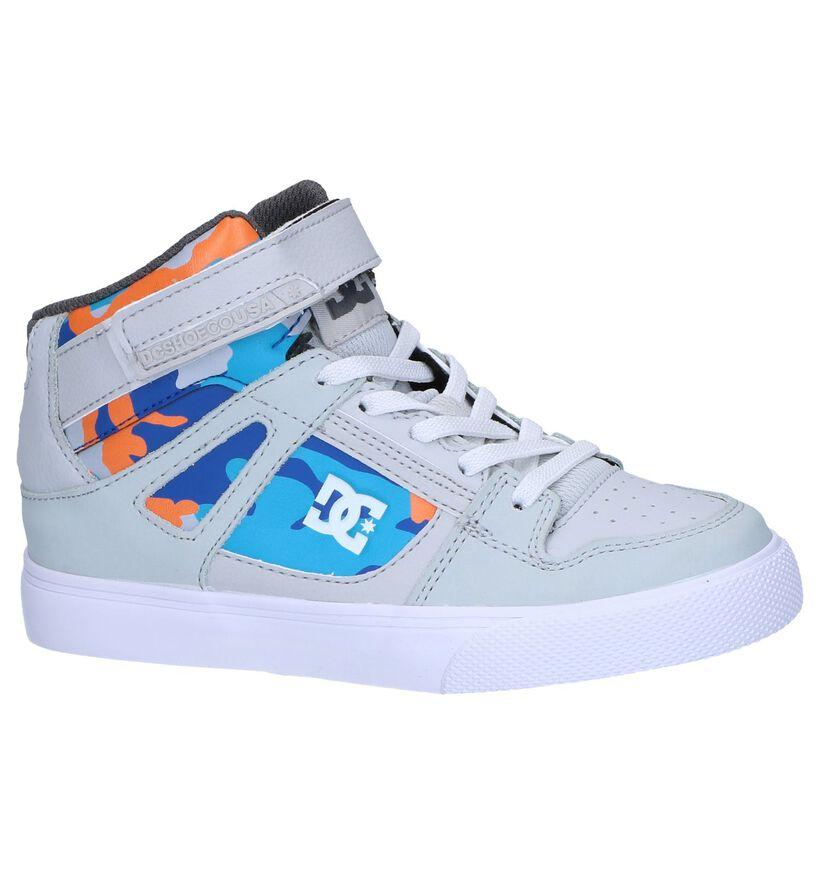 Lichtgrijze Hoge Skateschoenen DC Shoes Pure High in kunstleer (250811)