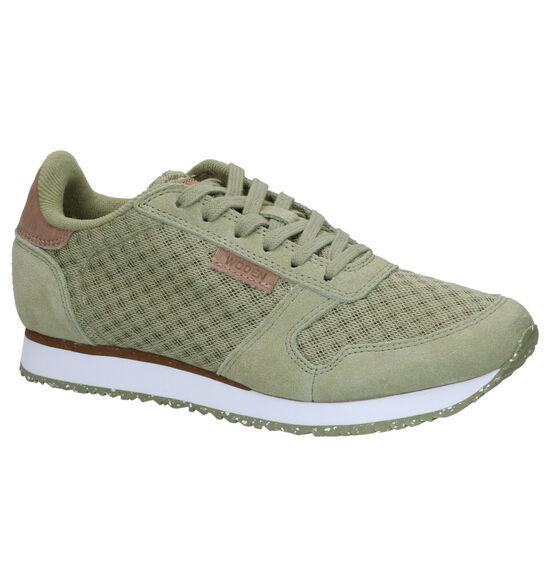 Woden Ydun Mesh Groene Sneakers