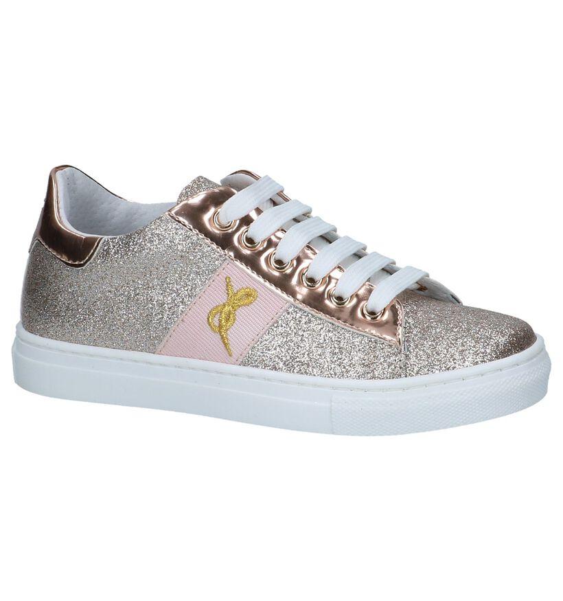 Sneakers Rose Gold met Glitters Milo & Mila by Torfs in kunstleer (242336)