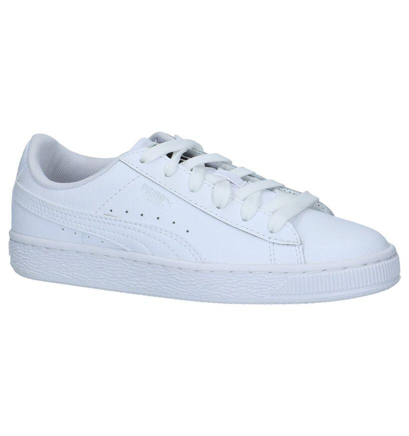 Puma Basket Classic Witte Sneakers in leer (265645)
