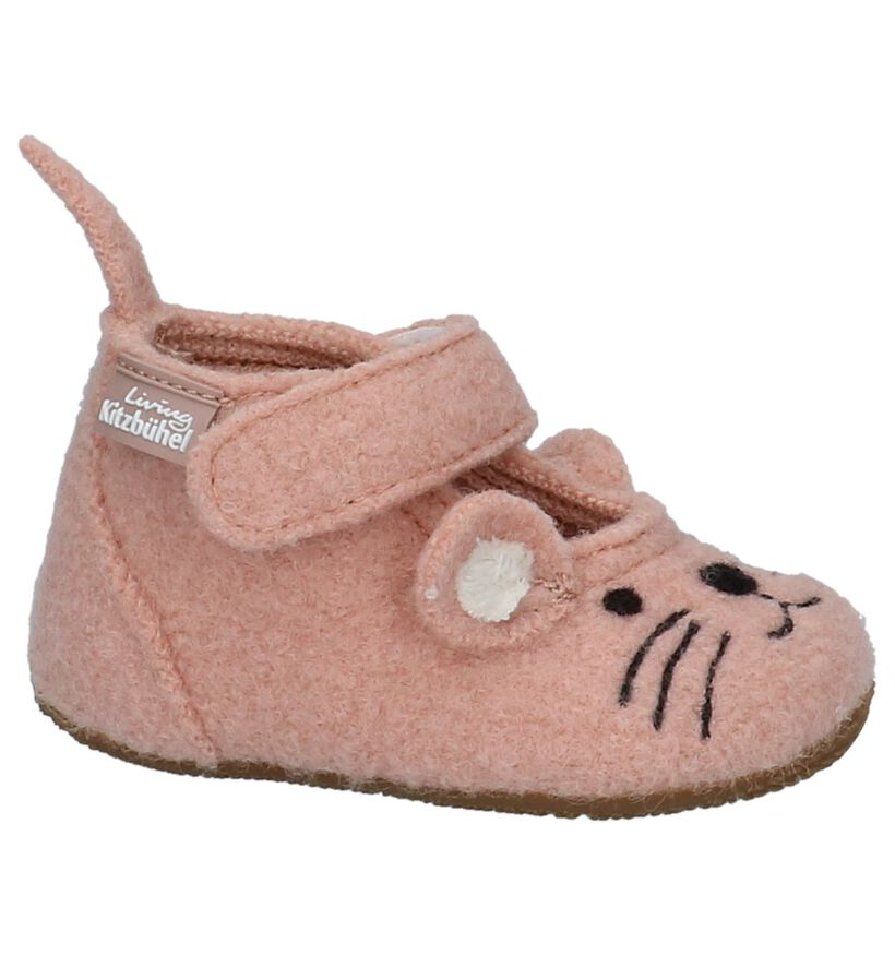 Living Kitzbühel Roze Babypantoffels in wol (235473)