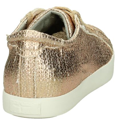 Tamaris Rose Gold Geklede Sneakers in stof (192449)