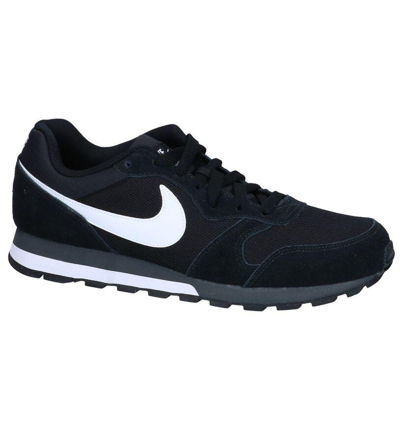 Nike MD Runner Blauwe Sneakers in daim (266539)