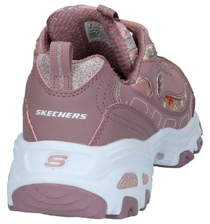 Skechers D'Lites Donkerroze Sneakers, Roze, pdp