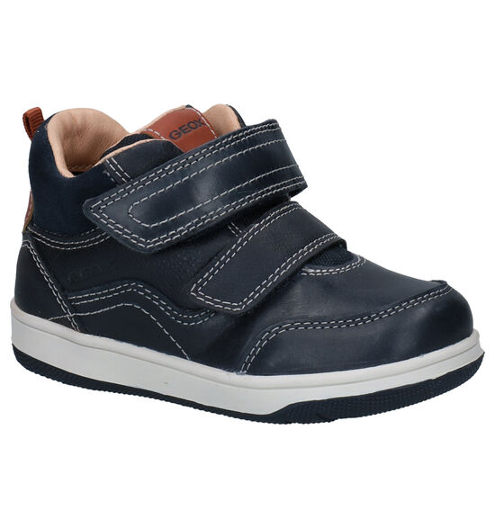 Geox Blauwe Klittenbandschoenen