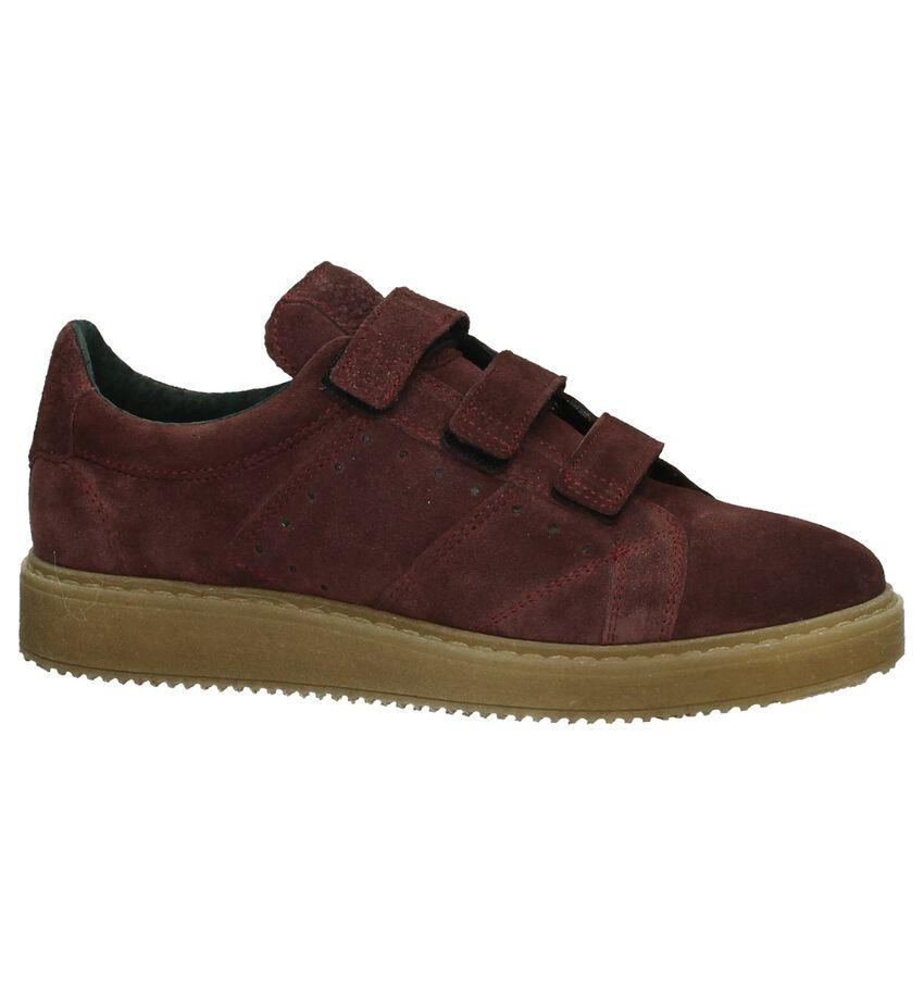 Bordeaux Sneakers met Klittenband Shoecolate