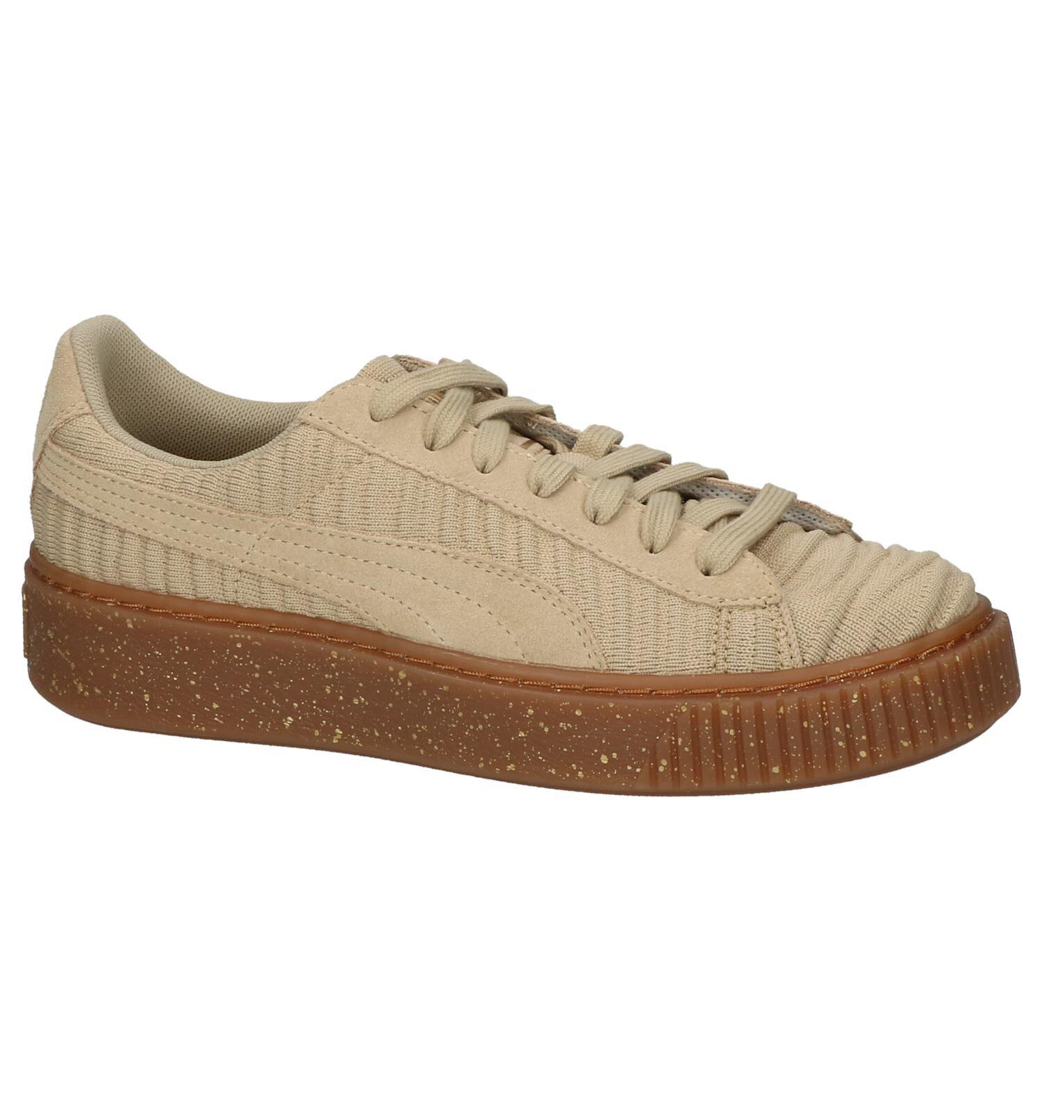 Puma sneakers Basket Platform OW dames beige maat 40,5