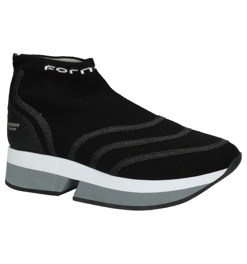 Hoge Sneakers Fornarina Selfie Zwart