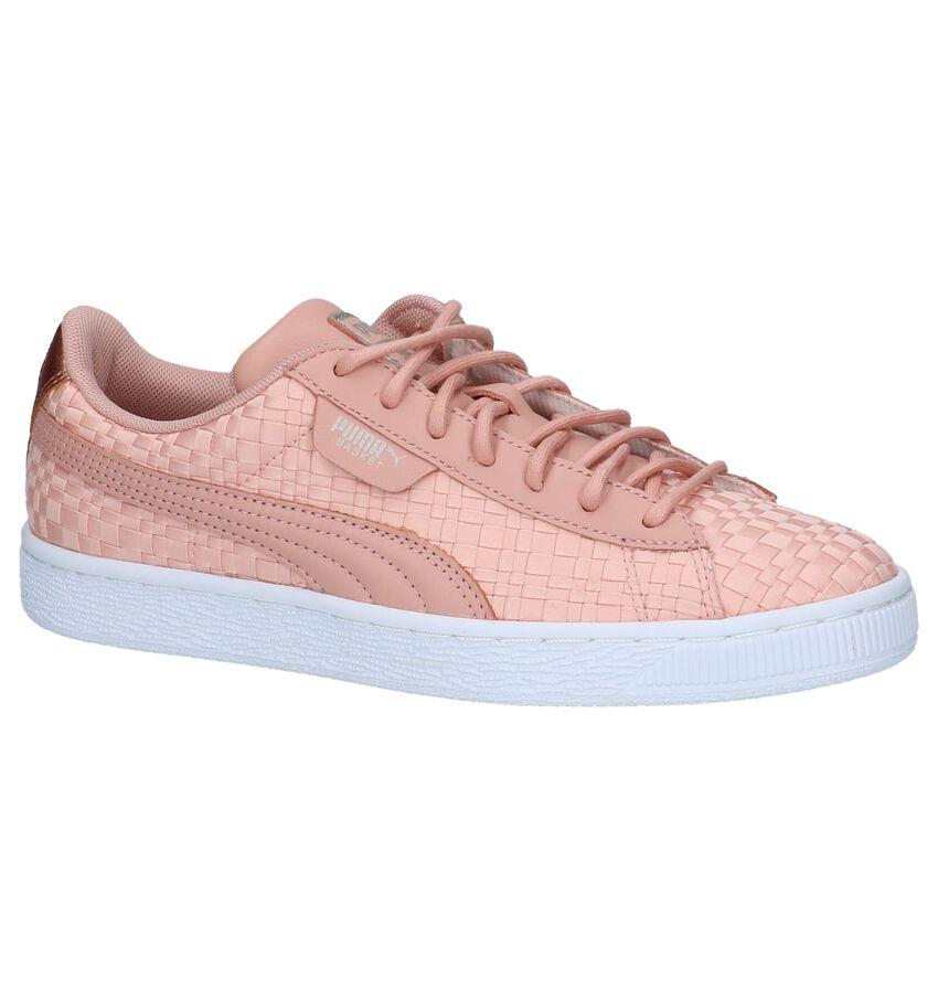 Roze Gevlochten Sneakers Puma