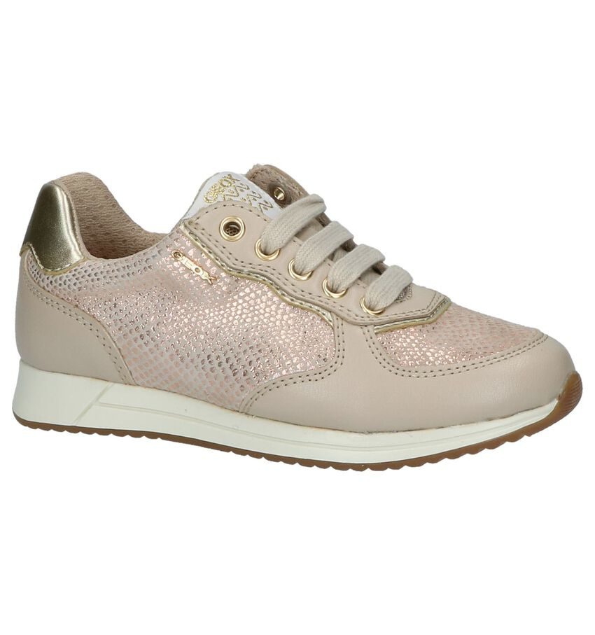 Taupe Sneakers Rits/Veter Geox