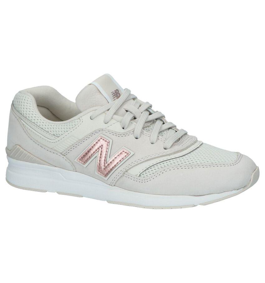 New Balance WL 697 Beige Sportieve Sneakers