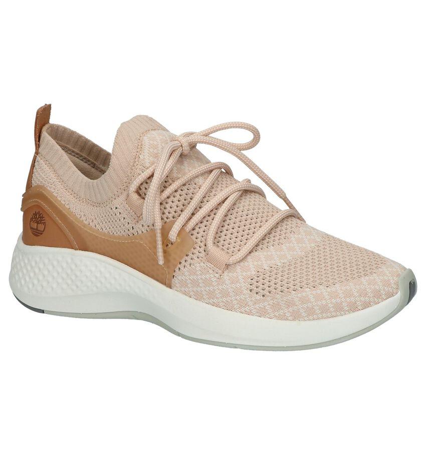 Roze Lage Sportieve Sneakers Timberland Flyroam Go Knit Chukka