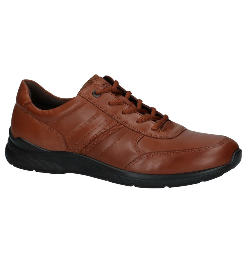 ECCO Irving Casual Veterschoenen Cognac