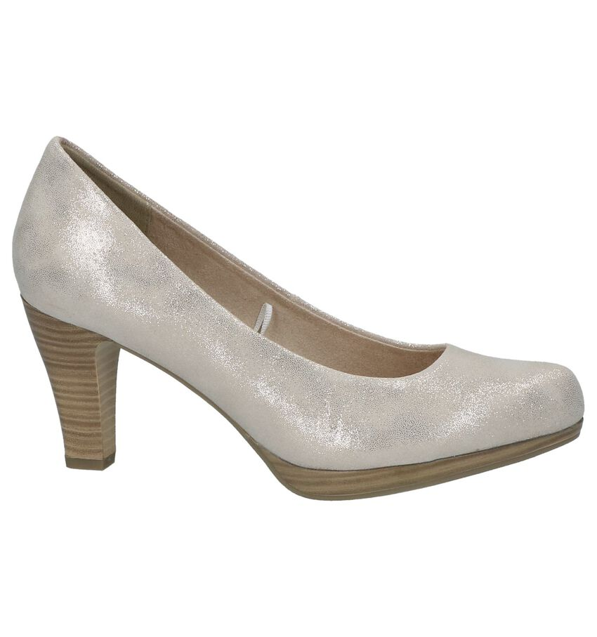 Beige Metallic Pumps Marco Tozzi