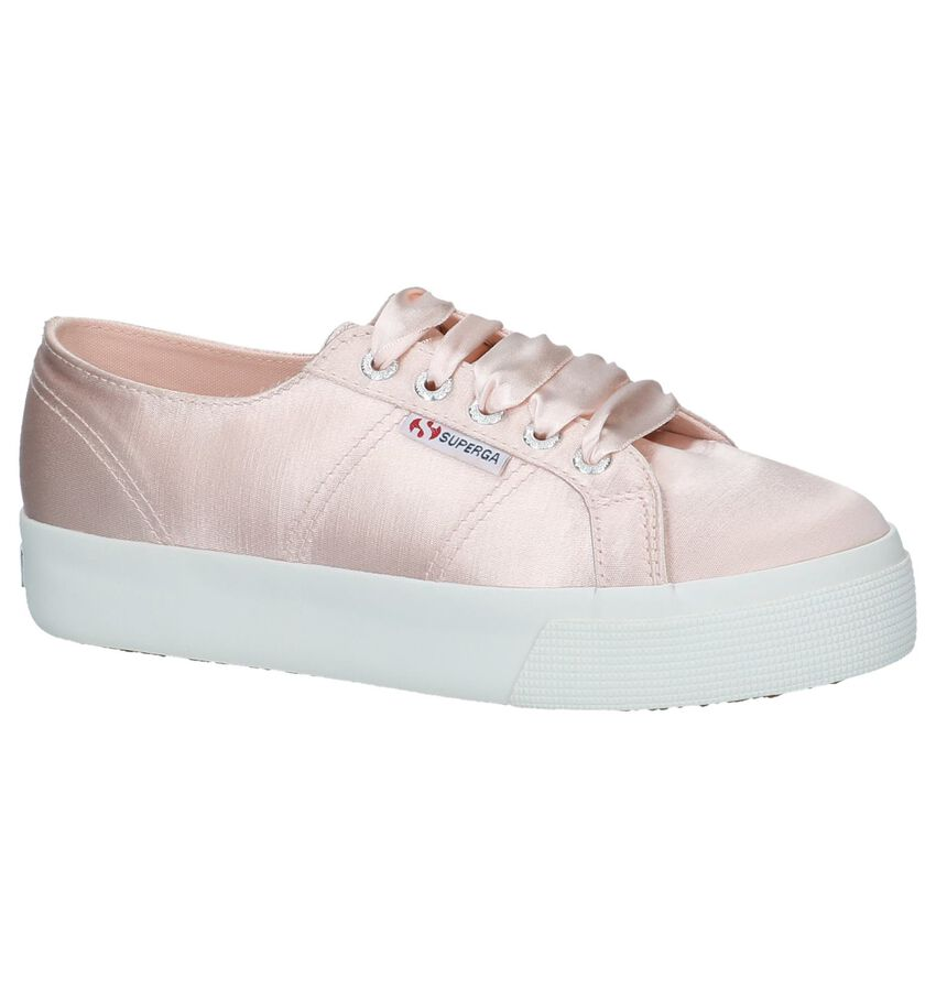 Roze Superga Flatform Sneakers