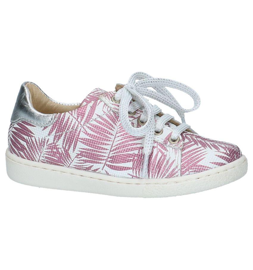 Shoo Pom Ducky Lo Cut Roze Schoenen met Rits & Veter