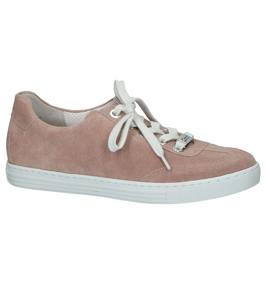 Roze Platte Veterschoenen Gabor Soft Move